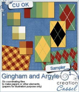 Gingham and argyle sampler