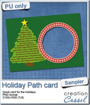 New path  –  Holiday theme
