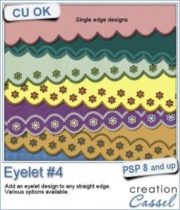 Paintshop Pro script to create eyelets