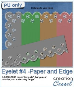 Free sample of an eyelet edge paper and ribbon