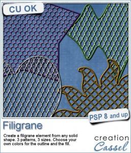 Filigrane - Paintshop Pro script by Cassel