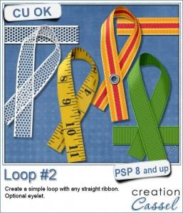 Ribbon loop 2 script for Paintshop Pro