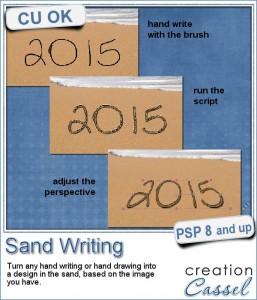 Sand writing with Paintshop Pro