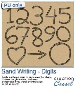 Digit writing in the sand with Paintshop Pro