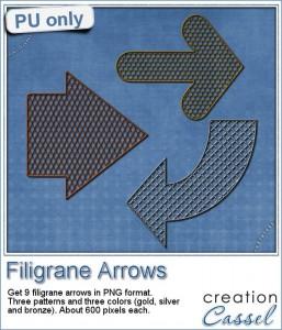 Free Filigrane Arrows by Cassel