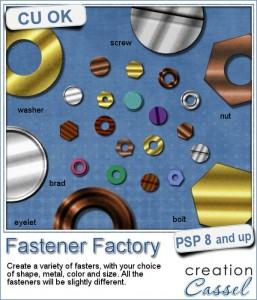 Fastener Factory script for Paintshop Pro