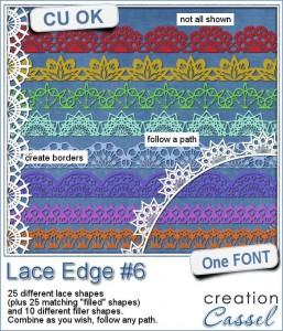 Lace Edge font