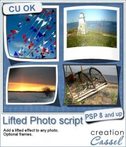 Lifted Photo script for Paintshop Pro