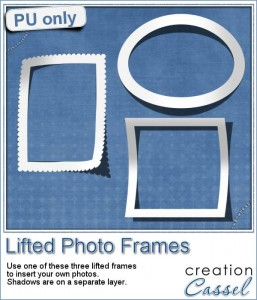 Lifted Photo Frames