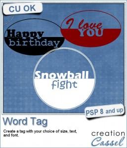 Word tag script for Paintshop Pro