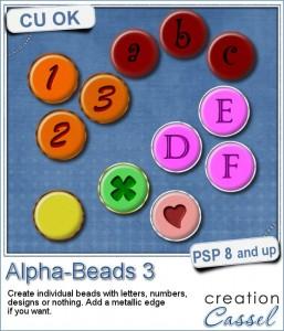 Alpha-beads script for Paintshop Pro