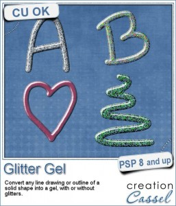 Glitter Gel script for Paintshop Pro