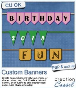 Custom Banners script for Paintshop Pro