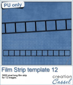 Film Strip template in PNG format