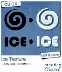 Ice Texture script for Paintshop Pro