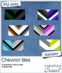 Chevron tiles in greyscale for free