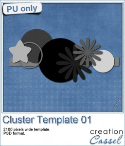 Cluster Template in PSD format