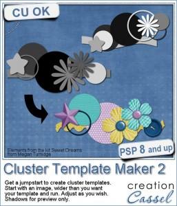 Cluster Template Maker script for Paintshop Pro