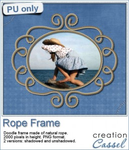 Rope doodle frame in PNG