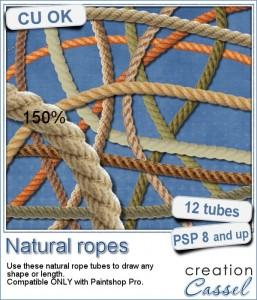 Natural rope tube for Paintshop Pro