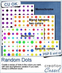 Random dot pattern script for Paintshop Pro