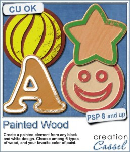 Painted wood script for Paintshop Pro