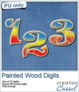Painted Wood Digits