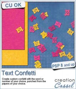 Text Confetti script for Paintshop Pro