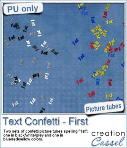 Text Confetti picture tubes - 1st
