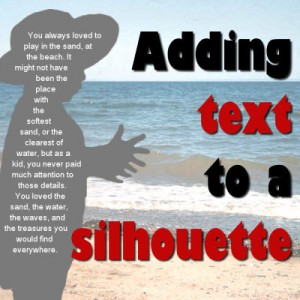 Text-in-silhouette