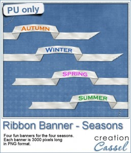 Ribbon banner sampler with the seasons