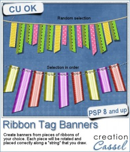 Ribbon Tag Banners script for Paintshop Pro
