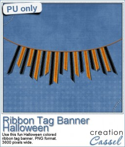 Ribbon Tag Banner for Halloween for free