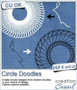 Circle Doodle script for Paintshop Pro