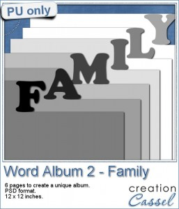 Word album in psd format - Family