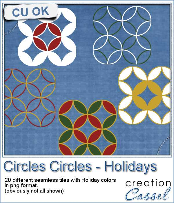 Seamless Circle patterns for Christmas in png format