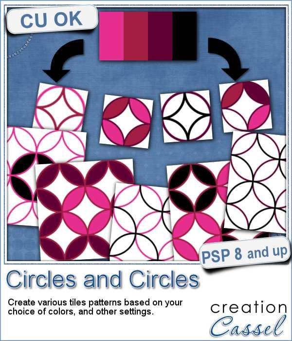 Circles pattern script for Paintshop Pro