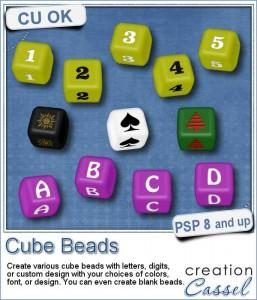 Cube beads script for Paintshop Pro