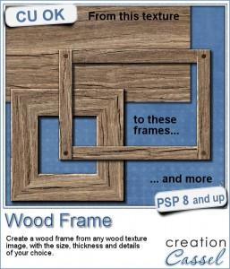 Wood frame script for Paintshop Pro