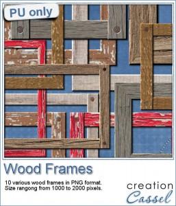 Wood frames in png format