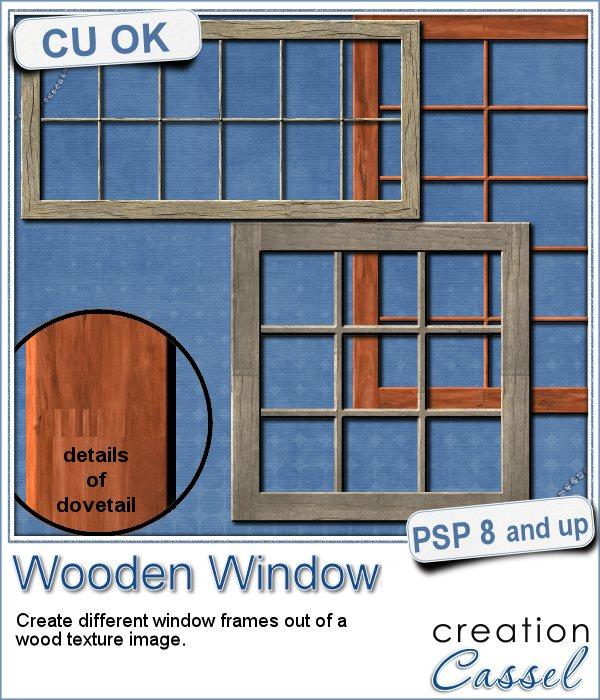 wooden window script for Paintshop Pro