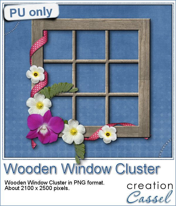 Wooden Window Cluster in PNG format