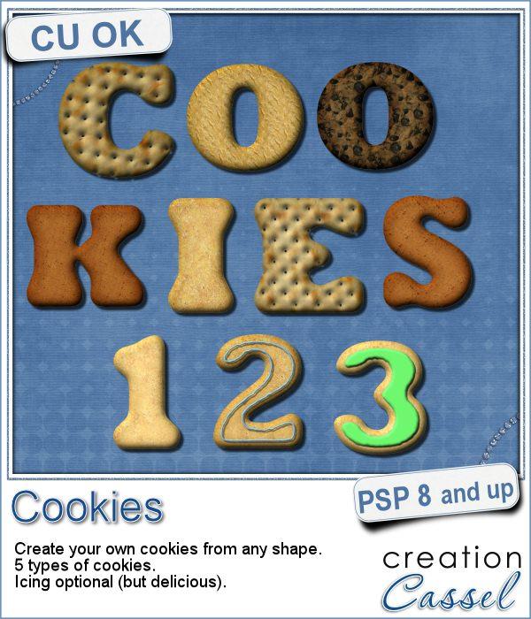 Cookies script for Paintshop Pro