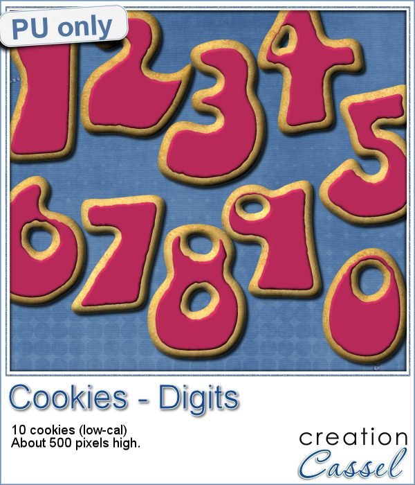 Cookies in Digits shapes