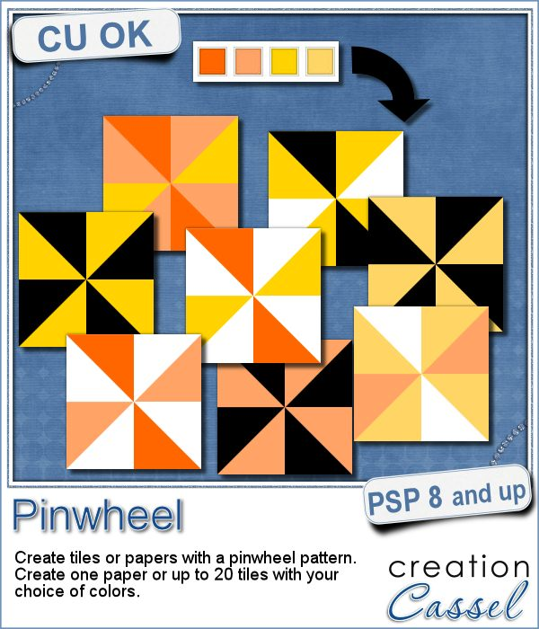 Paintshop Pro script to create pinwheel pattern