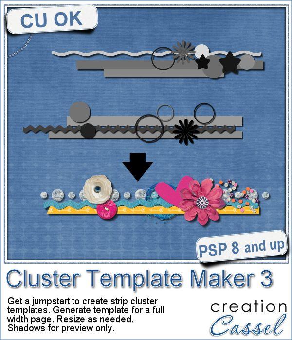 Cluster Template Maker 3 script for Paintshop Pro