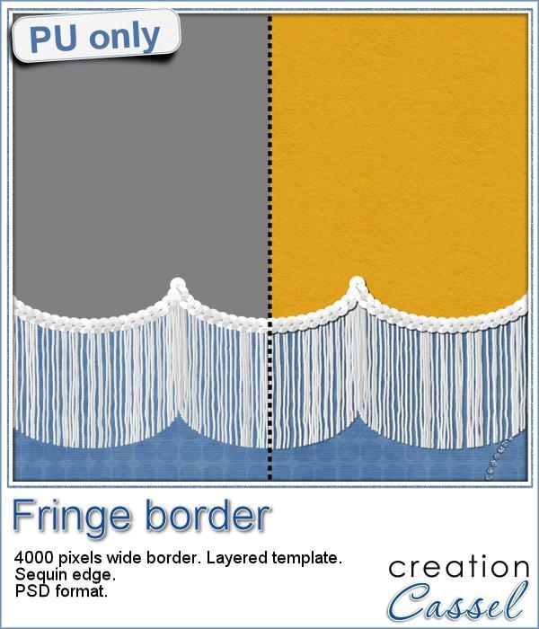 Fringe Border in PSD format