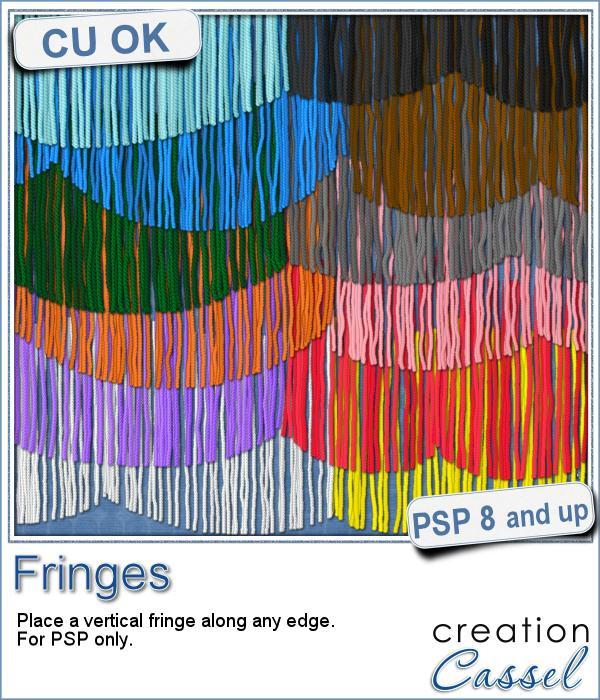 Fringe picture tubes for Paintshop Pro