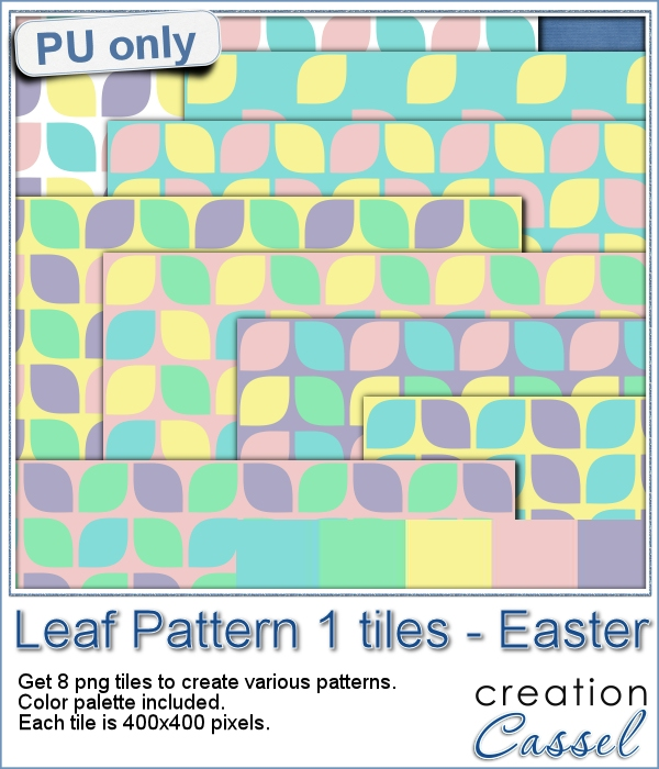 Leaf Pattern tiles - Easter colors