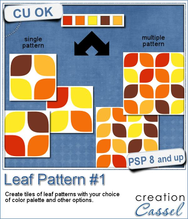 Leaf Pattern script for Paintshop Pro